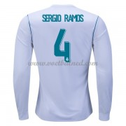 Voetbalshirts Clubs Real Madrid 2017-18 Sergio Ramos 4 Thuisshirt Lange Mouw..