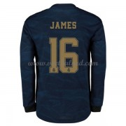 Voetbalshirts Clubs Real Madrid 2019-20 James Rodriguez 16 Uitshirt Lange Mouw