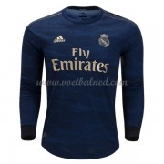 Voetbalshirts Clubs Real Madrid 2019-20 Uitshirt Lange Mouw