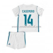 Voetbaltenue Kind Real Madrid 2017-18 Casemiro 14 Thuisshirt..