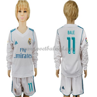 Voetbaltenue Kind Real Madrid 2017-18 Gareth Bale 11 Thuisshirt Lange Mouw