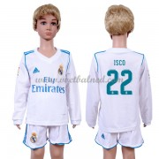 Voetbaltenue Kind Real Madrid 2017-18 Isco 22 Thuisshirt Lange Mouw..