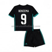 Voetbaltenue Kind Real Madrid 2017-18 Karim Benzema 9 Uitshirt..