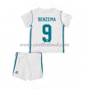 Voetbaltenue Kind Real Madrid 2017-18 Karim Benzema 9 Thuisshirt..