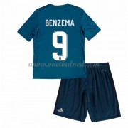 Voetbaltenue Kind Real Madrid 2017-18 Karim Benzema 9 Third Shirt..