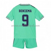 Voetbaltenue Kind Real Madrid 2019-20 Karim Benzema 9 Third Shirt