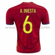 Voetbaltenue Spanje Nationale Elftal 2016 A. Iniesta 6 Thuisshirt..