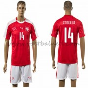 Voetbaltenue Zwitserland Nationale Elftal 2016 Stocker 14 Thuisshirt..