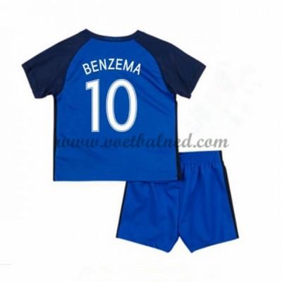 Voetbaltenue Kind Frankrijk EK 2016 Karim Benzema 10 Thuisshirt