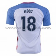Voetbaltenue USA Nationale Elftal 2016 Bobby Wood 18 Thuisshirt..