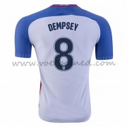 Voetbaltenue USA Nationale Elftal 2016 Clint Dempsey 8 Thuisshirt..