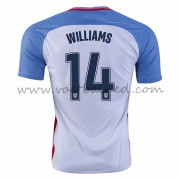 Voetbaltenue USA Nationale Elftal 2016 Danny Williams 14 Thuisshirt..