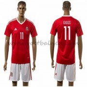 Voetbaltenue Wales Nationale Elftal 2016 Giggs 11 Thuisshirt..