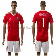 Voetbaltenue Wales Nationale Elftal 2016 Hennessey 1 Thuisshirt..