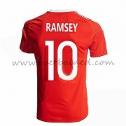 Voetbaltenue Wales Nationale Elftal 2016 Ramsey 10 Thuisshirt..