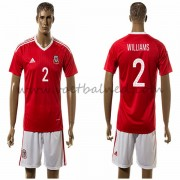 Voetbaltenue Wales Nationale Elftal 2016 Williams 2 Thuisshirt..