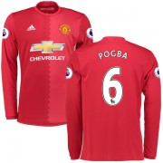 Voetbalshirts Clubs Manchester United 2016-17 Paul Pogba 6 Thuisshirt Lange Mouw..