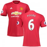 Voetbalshirts Clubs Manchester United 2016-17 Paul Pogba 6 Thuisshirt..